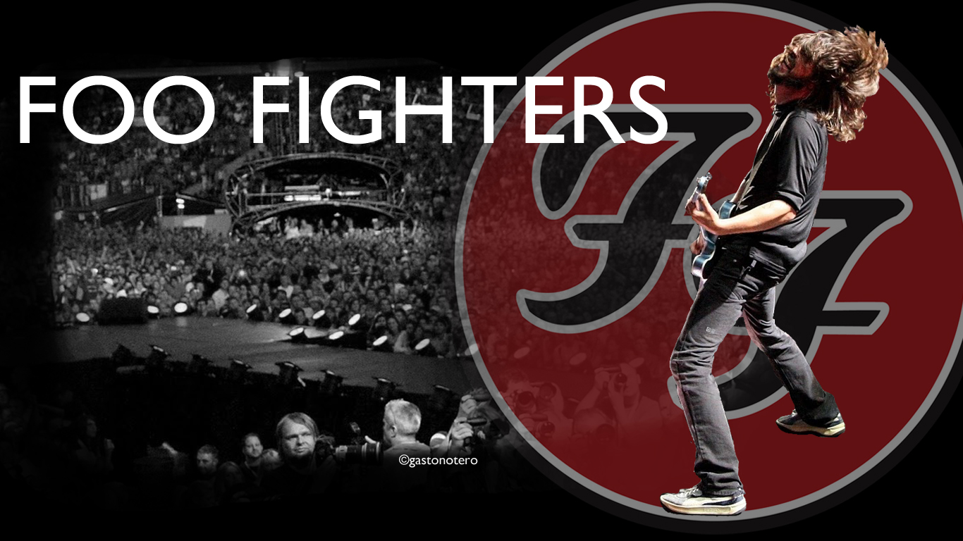 1366x768px Foo Fighters Wallpaper