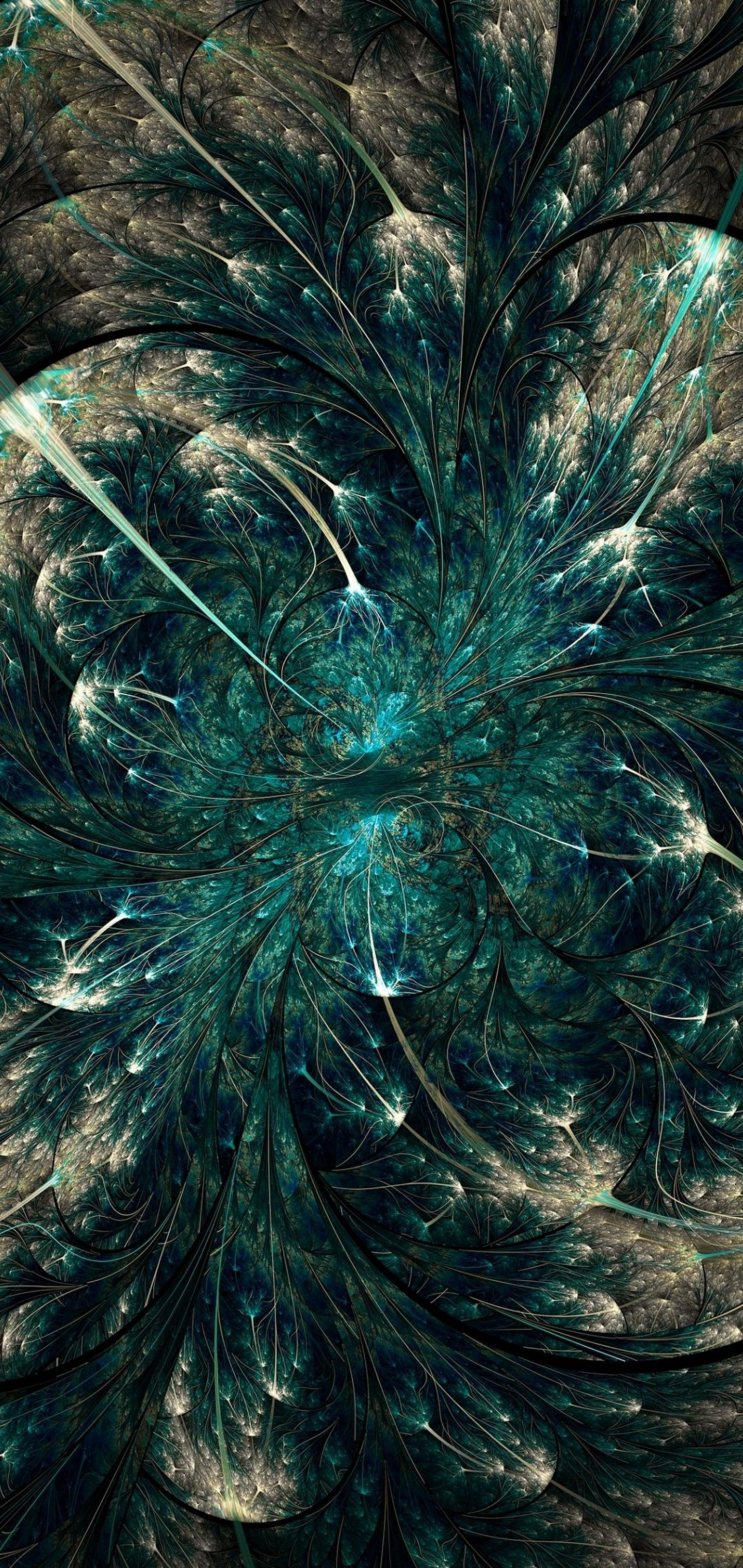 Twisted Abstract Pattern Fractal Wallpaper   [1440x3040] 1440x3040