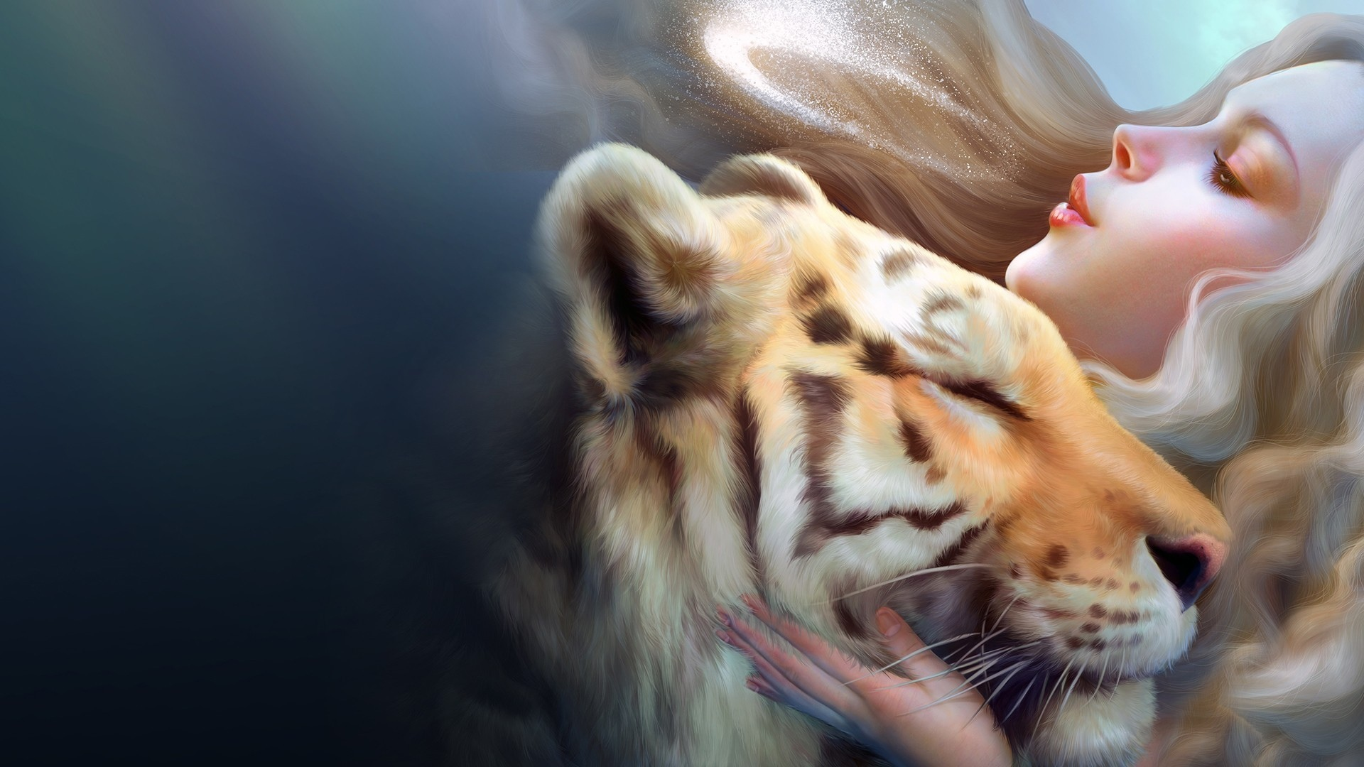 Download Fantasy Tiger Girl HD Wallpapers 5569 Full Size 1920x1080