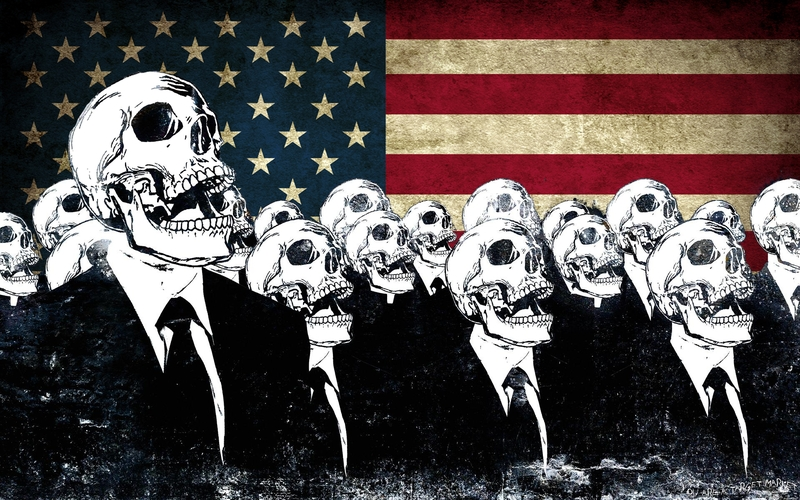 Skulls Flags American Flag Alex Cherry Entertainment Funny HD 800x500