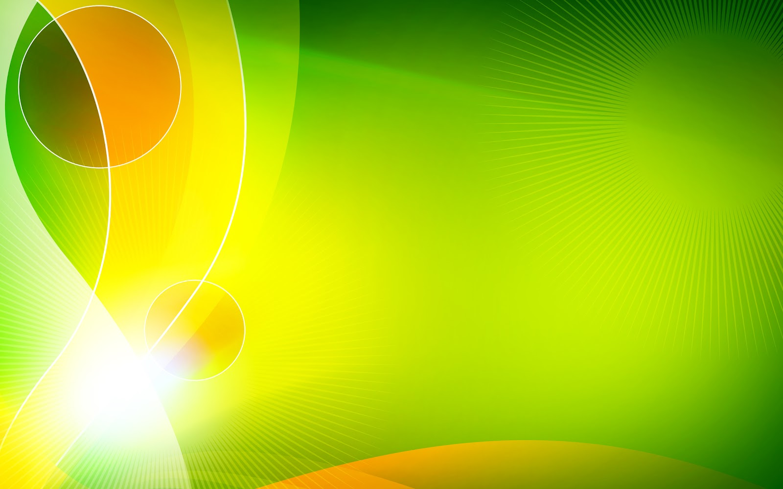Free Download Green Orange Vector 1600x1000 For Your