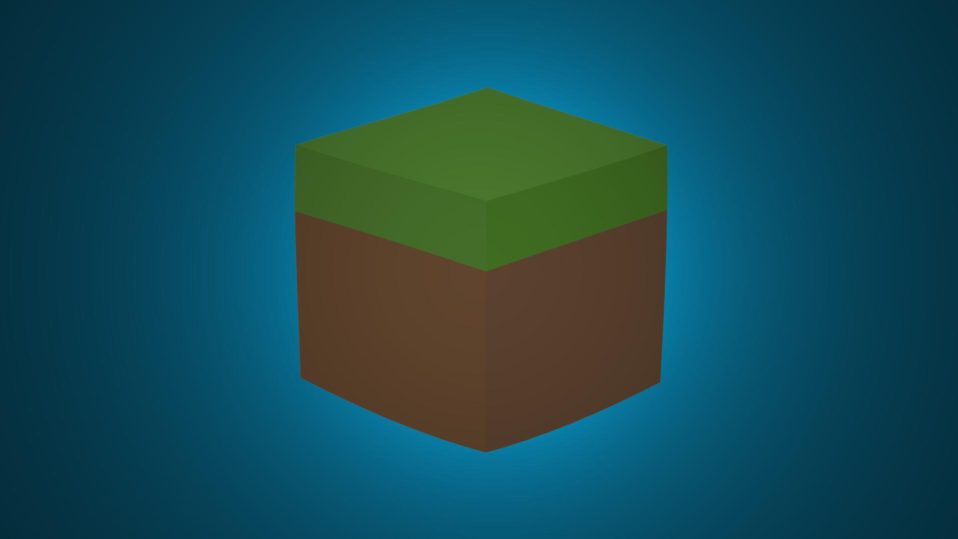 Minecraft Minimalist Grass Block Wallpaper by DarkGS 1920x1080