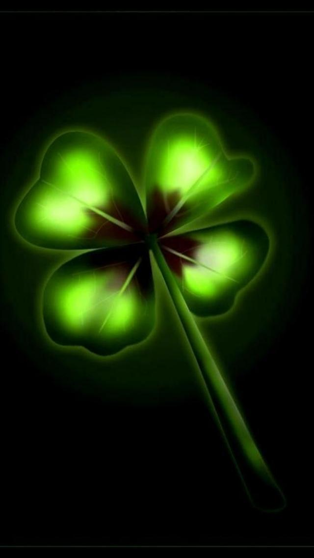 download Four Leaf Clover Cool iPhone Wallpapers [640x1136 640x1136