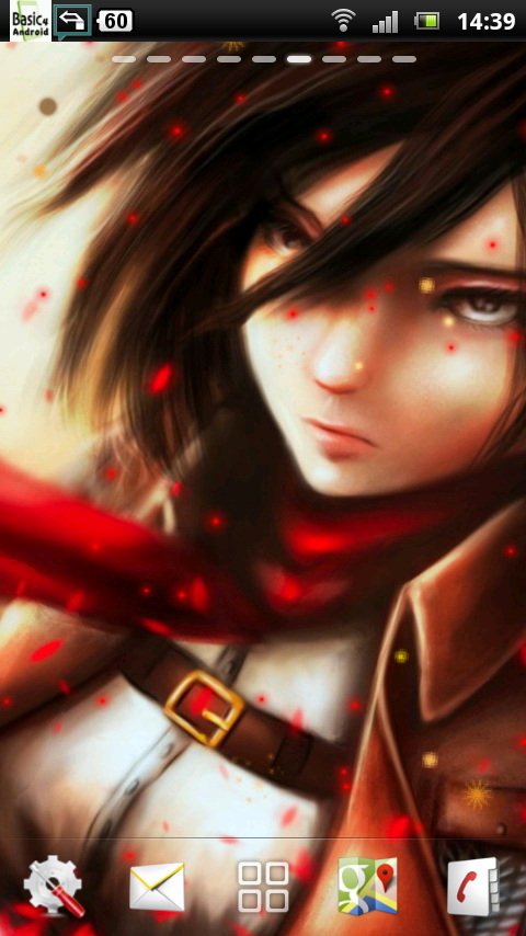 Download Attack on Titan Live Wallpaper 5 for your Android phone 480x854