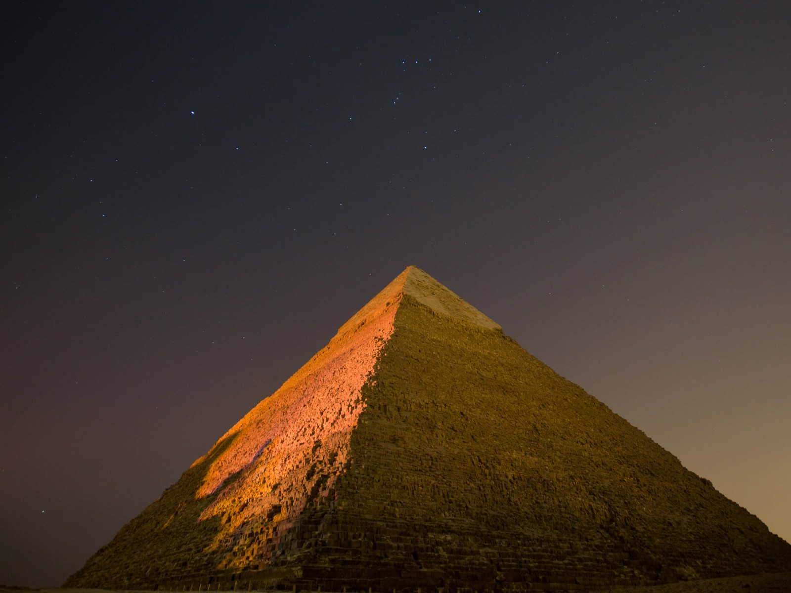 Pyramid by Night HD wallpaper for 1600 x 1200   HDwallpapersnet 1600x1200