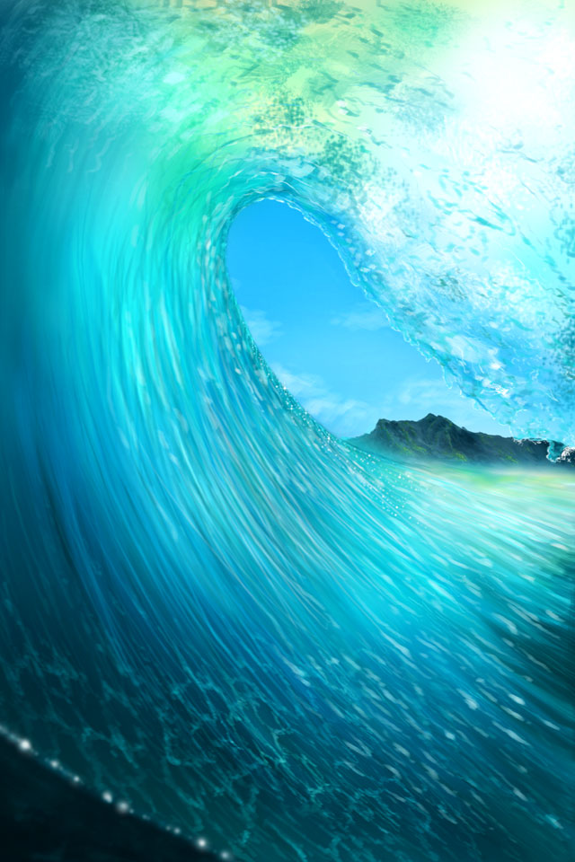 50 Iphone Wave Wallpaper On Wallpapersafari