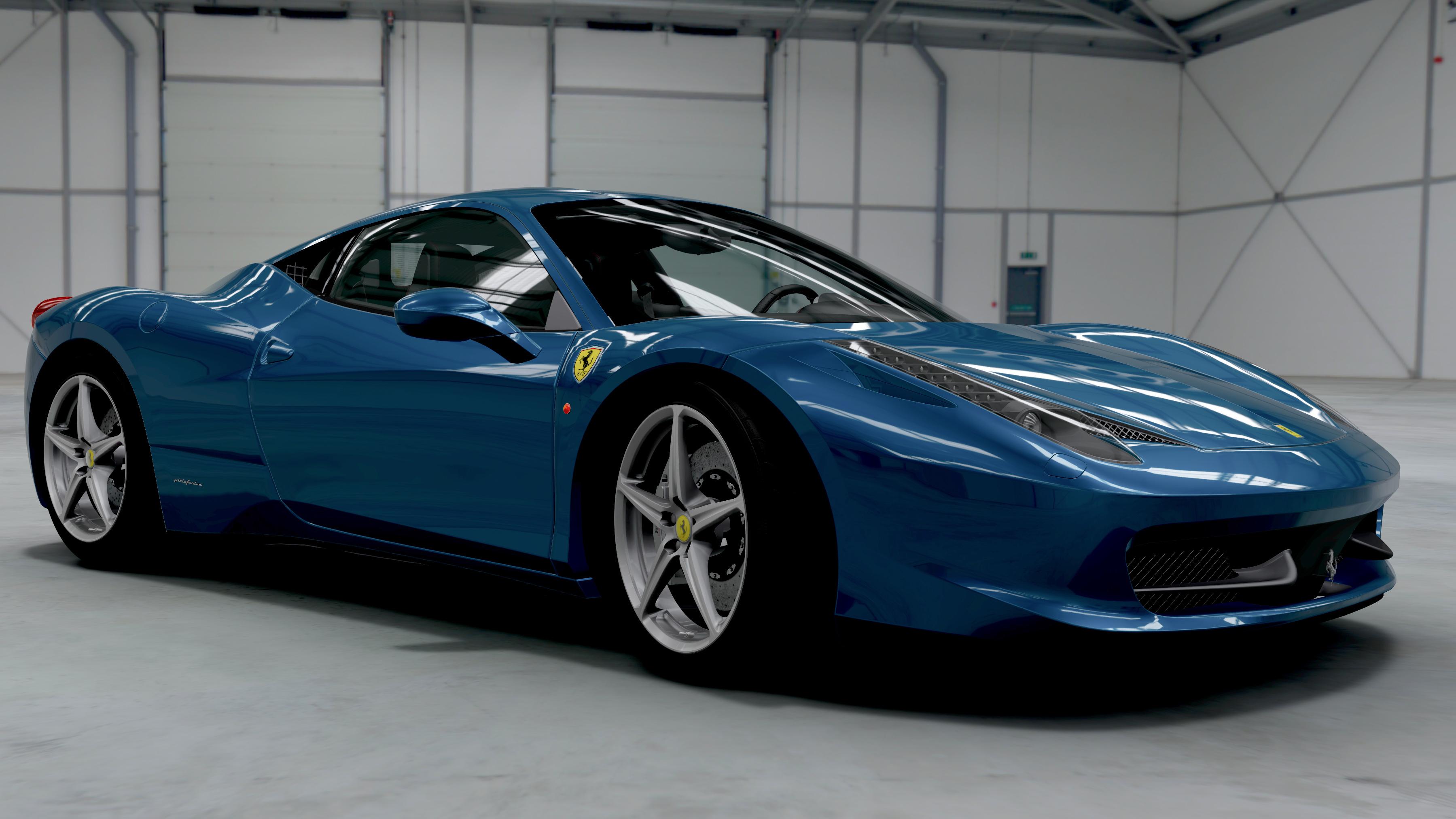 interested about vehicles love to have a ferrari 458 italia wallpaper - Ferrari 458 Blue Wallpaper