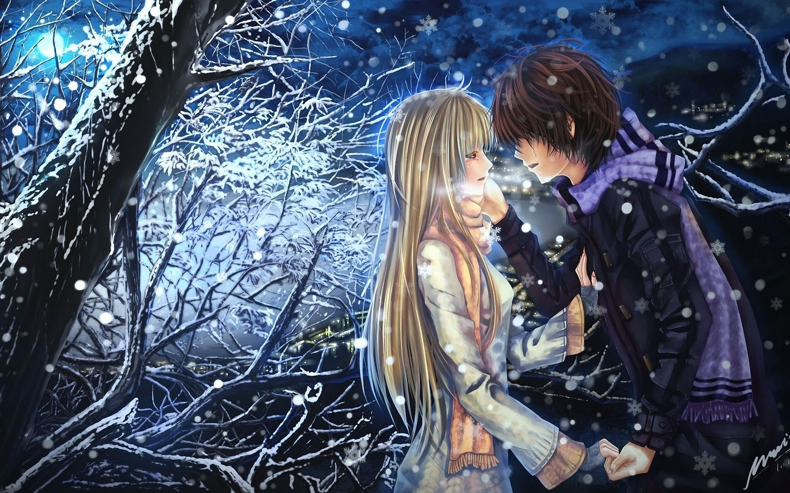 anime boy girl couple love cool desktop wallpaper download anime boy 1600x1000