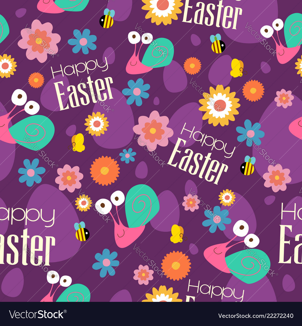 Easter and spring wallpaper seamless pattern Vector Image 1000x1080