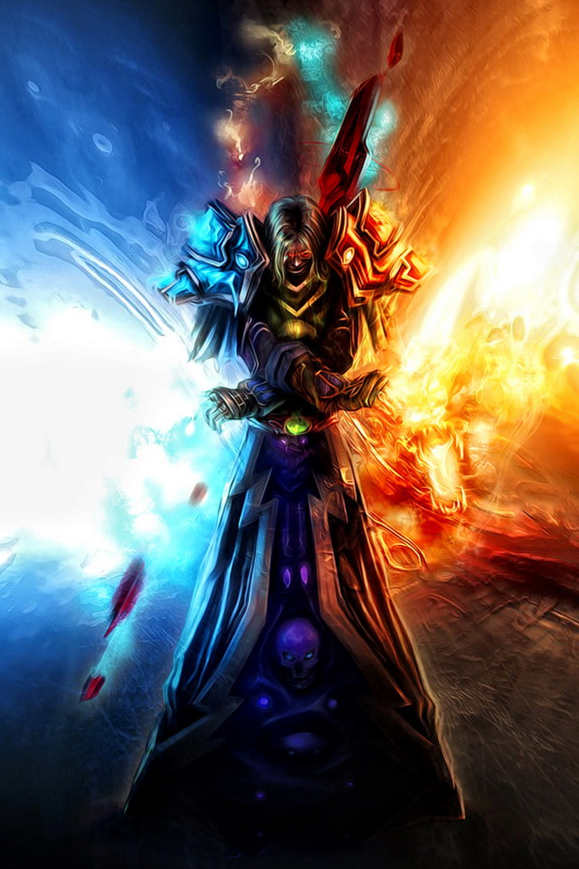 World of warcraft warlock iPhone wallpapers Background and Themes 640x960