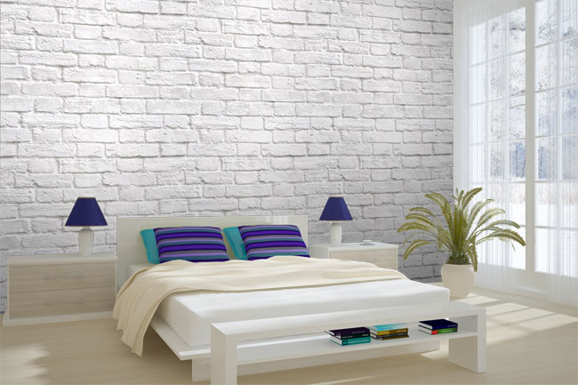 incredible white brick wallpaper bedroom | White Brick Wallpaper Ideas - WallpaperSafari