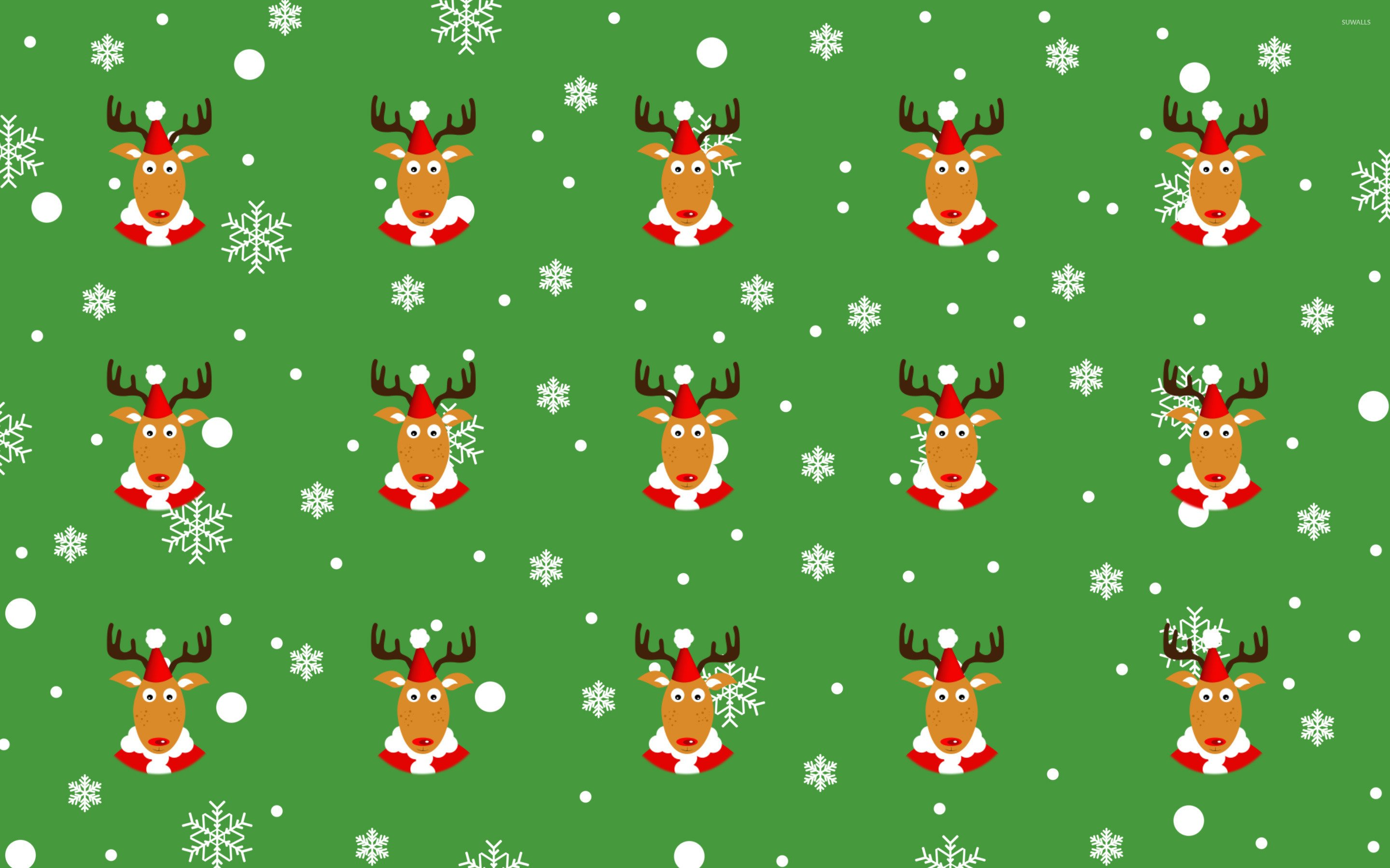 Reindeer pattern wallpaper   Holiday wallpapers   25547 2880x1800