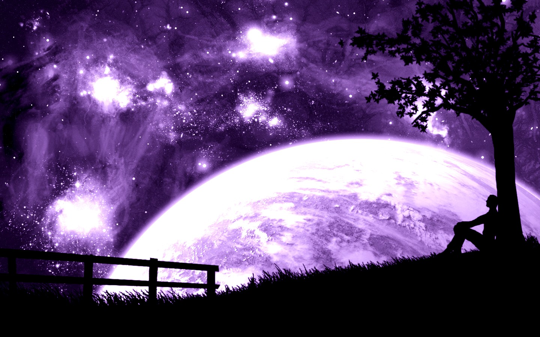 Purple desktop wallpaper wallpapersafari - Purple moon wallpaper ...