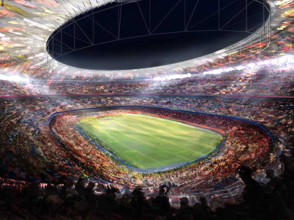 Camp Nou Barcelona Bacelona Fc Wallpaper 1024x768