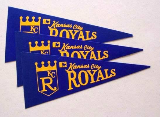 Kansas City Royals   Mini Pennants   LOT OF 3 Baseball cards value 547x400