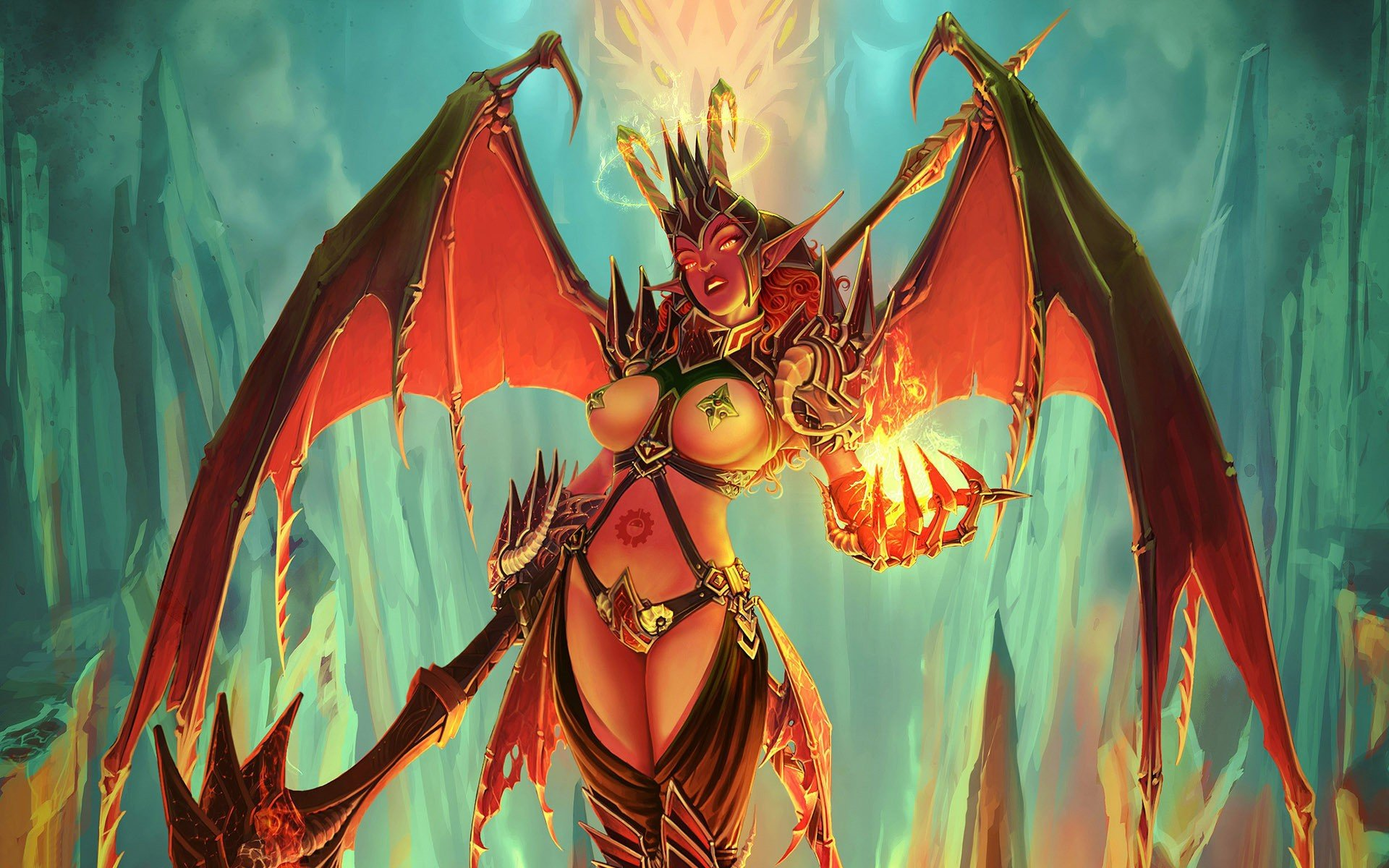 46 Female Demon Wallpaper On Wallpapersafari