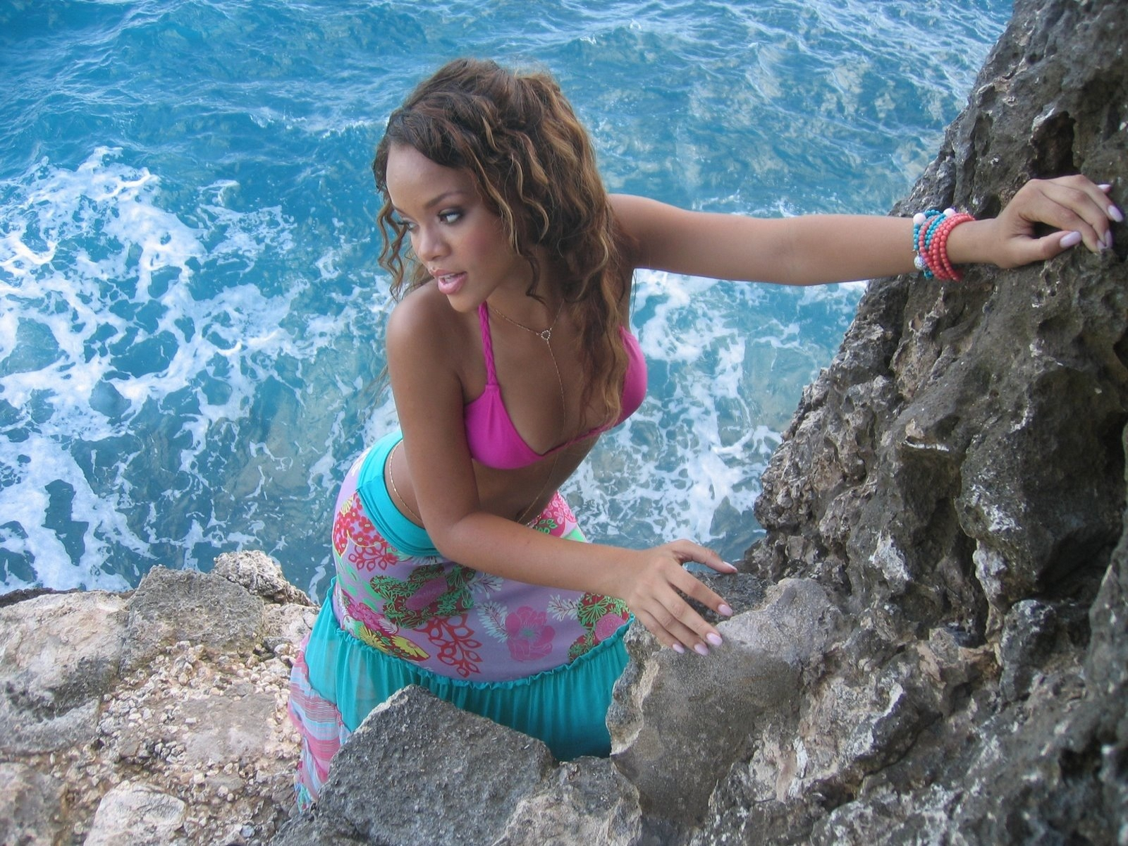 RIhanna having fun in barbados wallpapers and images   wallpapers 1600x1200