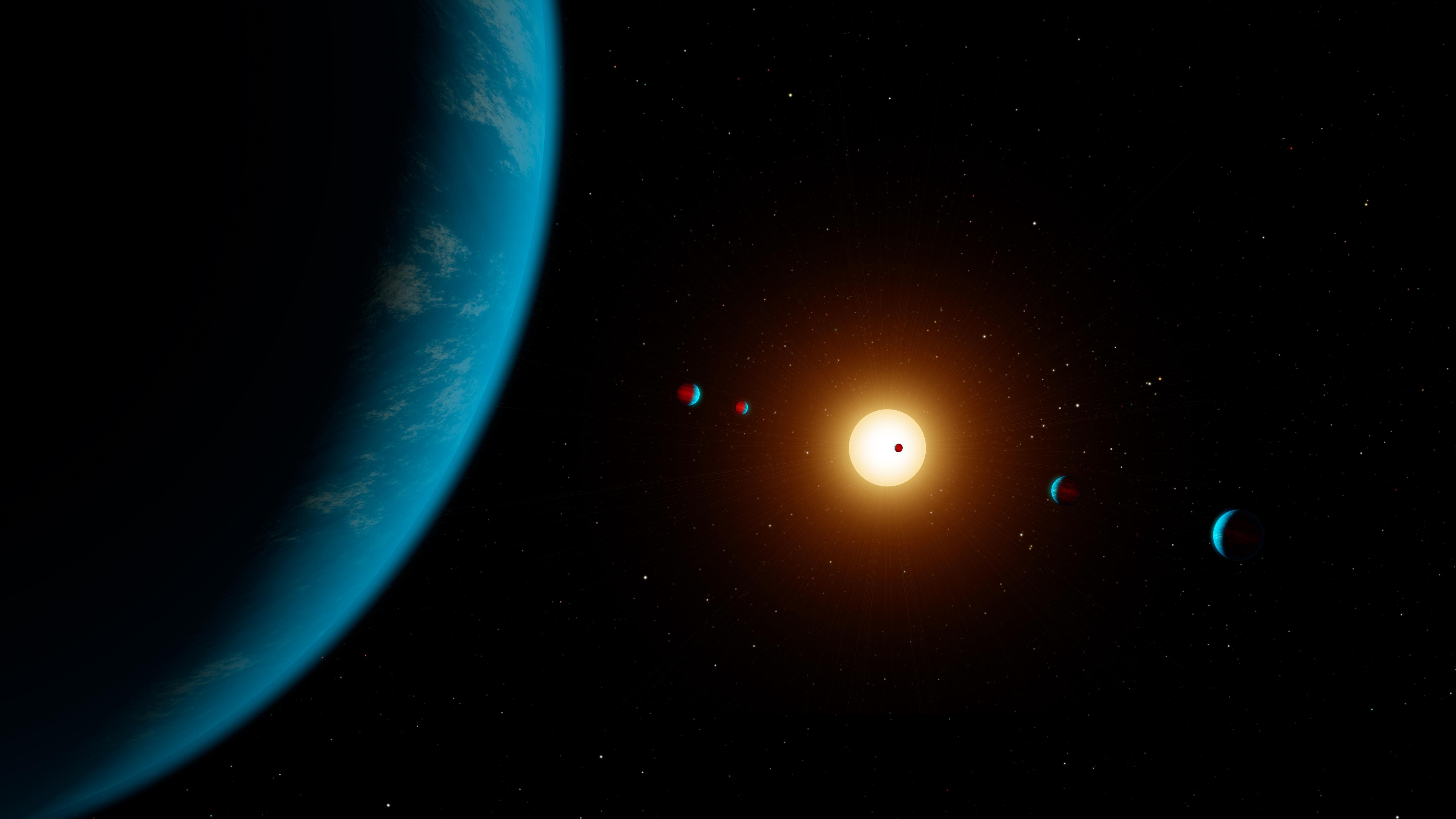 Space Images K2 138 6 Planets Artwork Artists Illustration 5120x2880