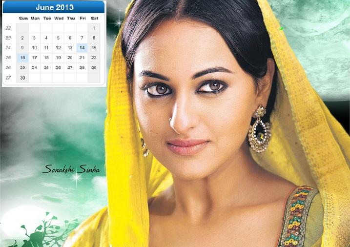 Bollywood Actress Calendar 2013 for Desktop Screen 717x506