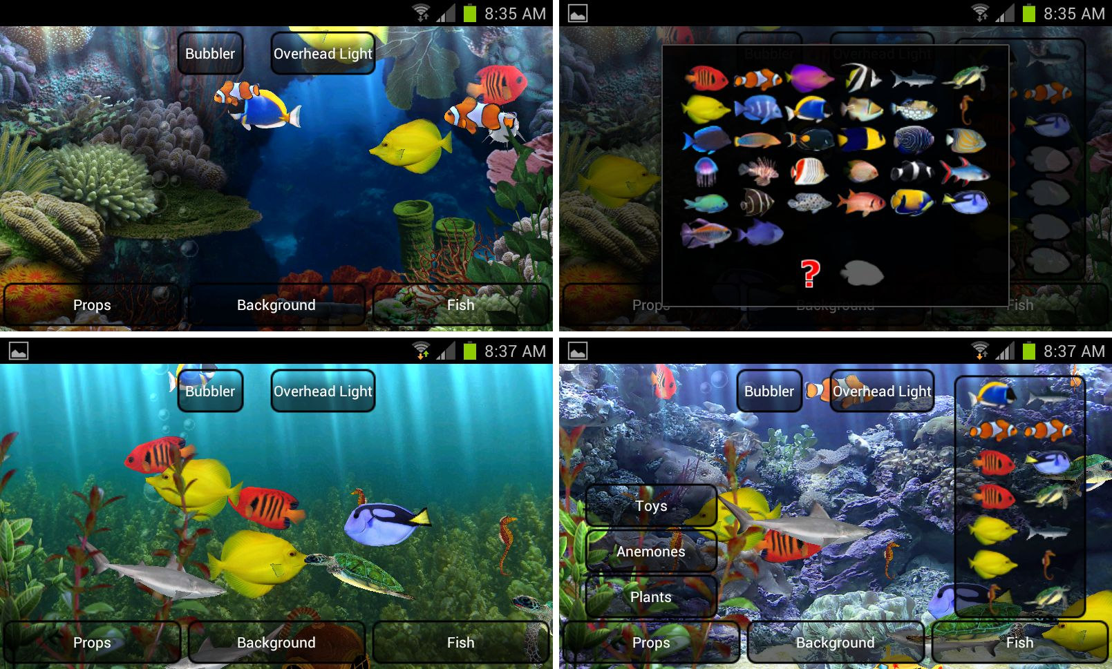 best paid live wallpapers phones aquarium live wallpaper screenshots 1609x969