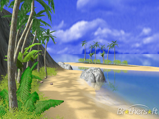 Download Free 3D Tropical Island Screen Saver, 3D Tropical Island ...