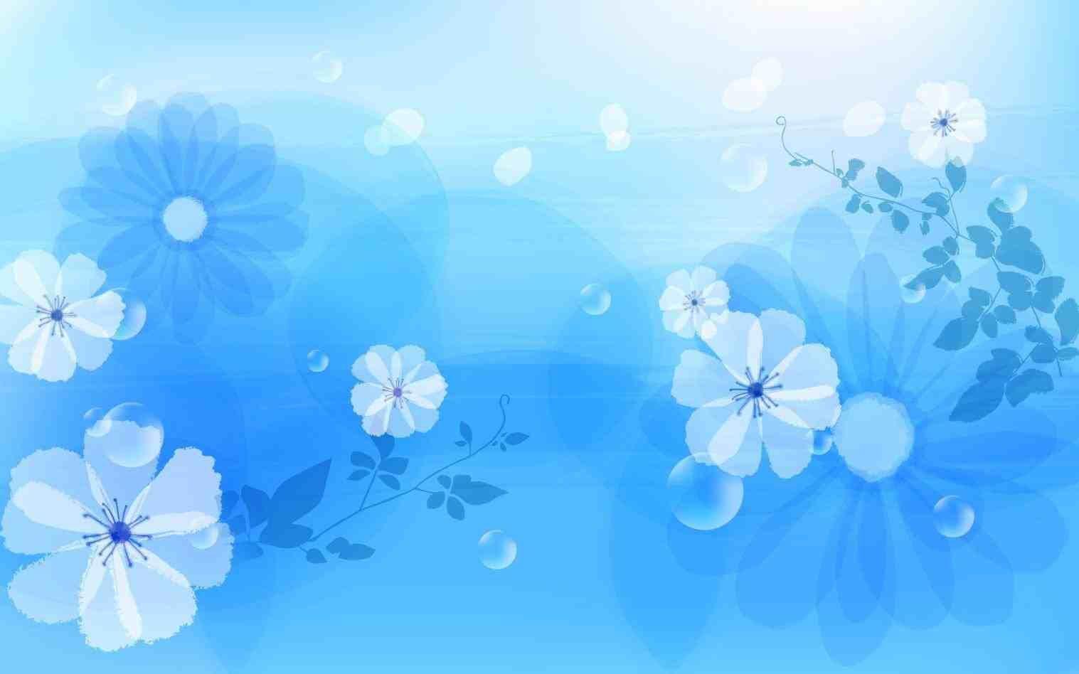 blue wedding design background Weddings Blue flower wallpaper 1517x948