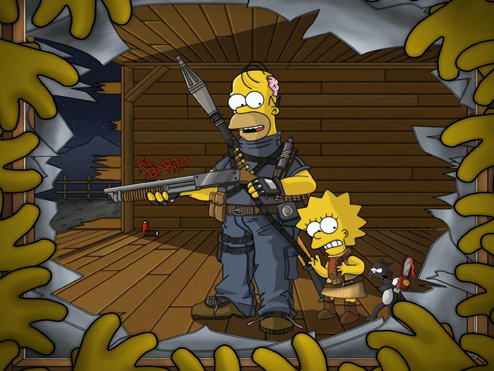 Simpsons Wallpaper For Bedroom The Simpsons Wallpaper Wallpapersafari