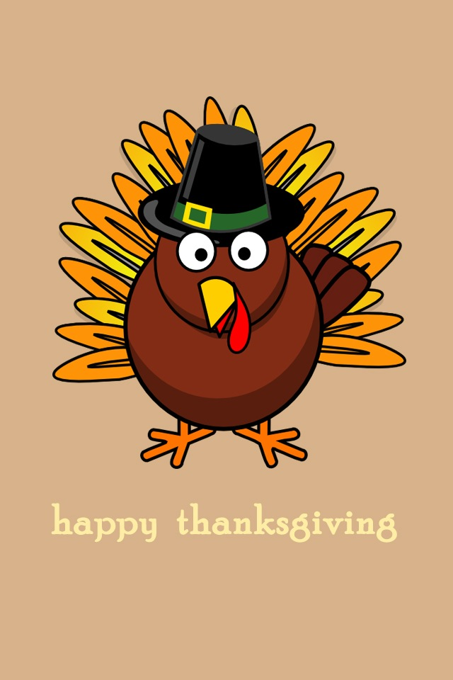 Free Download Cartoon Thanksgiving Wallpapers For Iphone44s