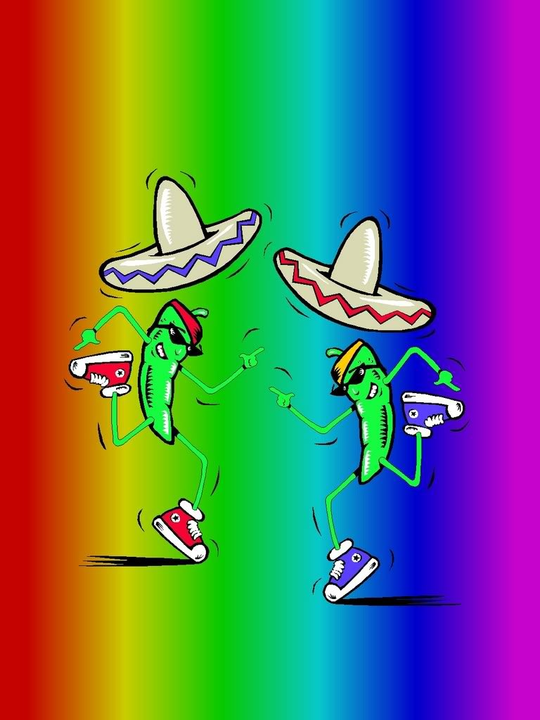 Cool Mexican Backgrounds Mexican dancing peppers 768x1024