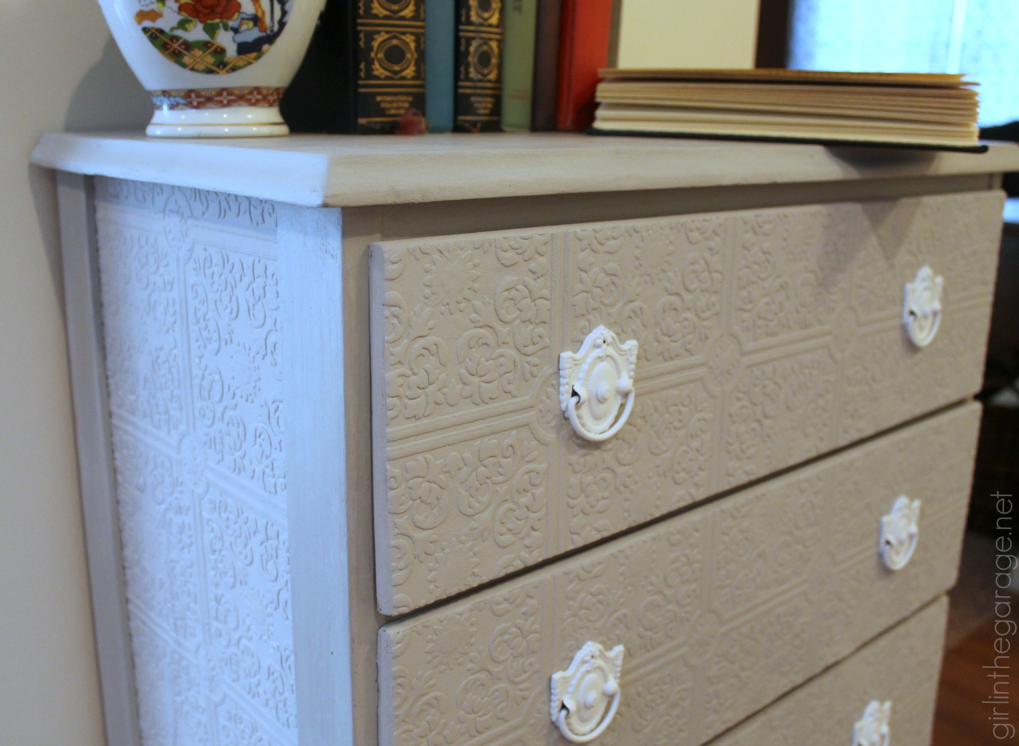 How to Update a Dresser with Paintable Wallpaper   Girl in the Garage 2099x1538