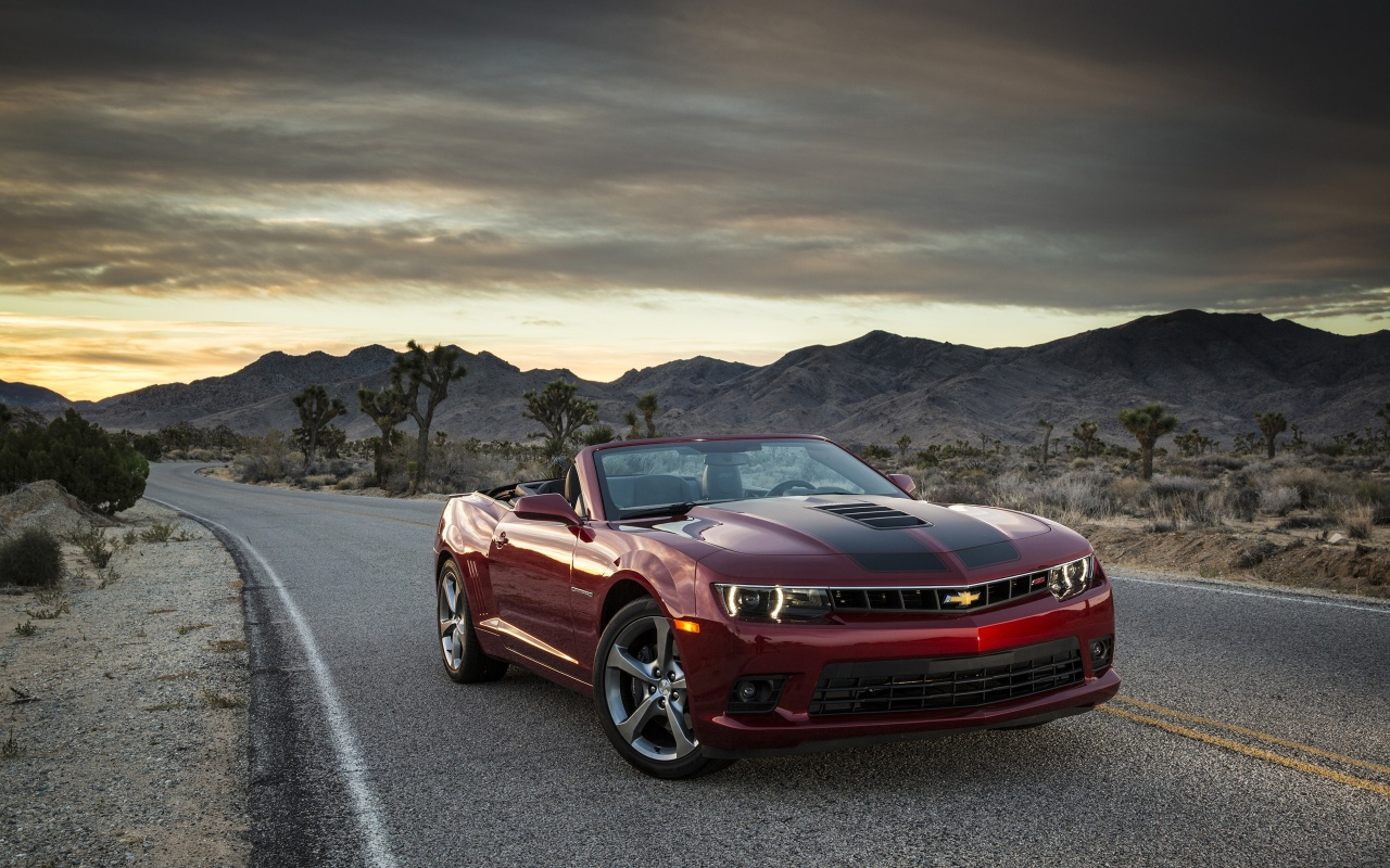 2015 Chevrolet Camaro SS Convertible Wallpaper HD Car Wallpapers 1280x800