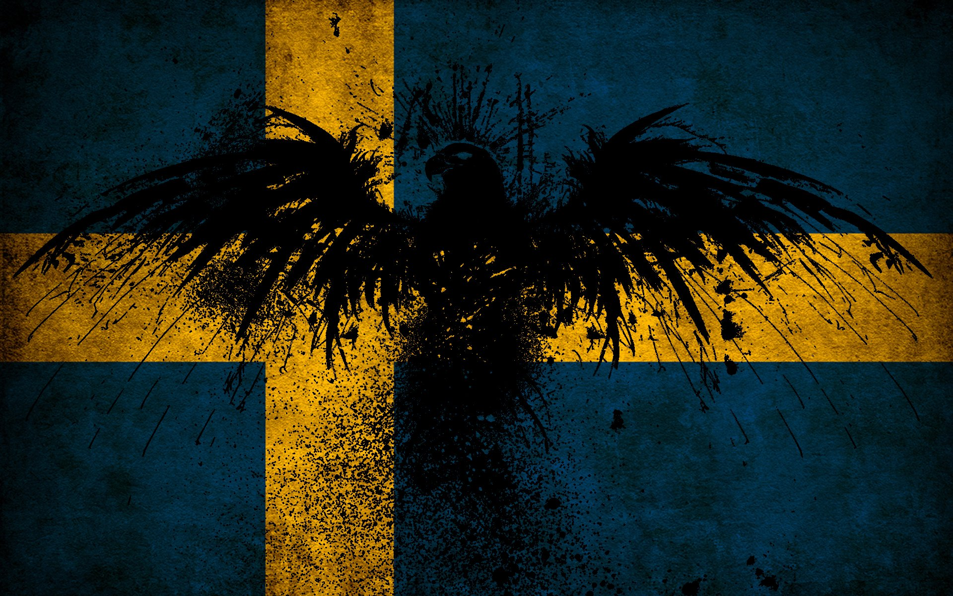 Swedish Flag Wallpaper 1920x1200 264488 KB 1920x1200