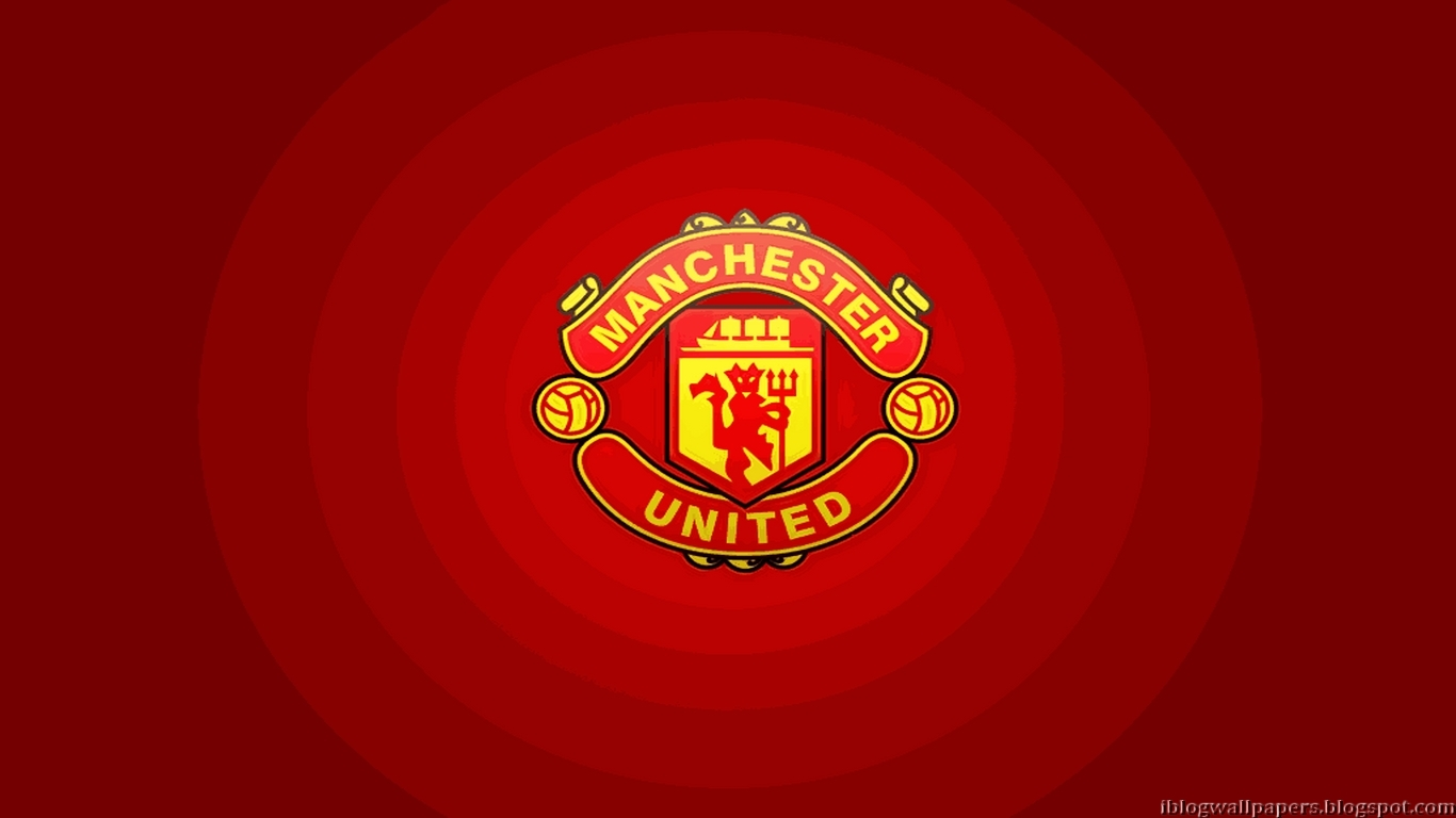 Manchester United Logo Wallpapers Collection 1 1366x768