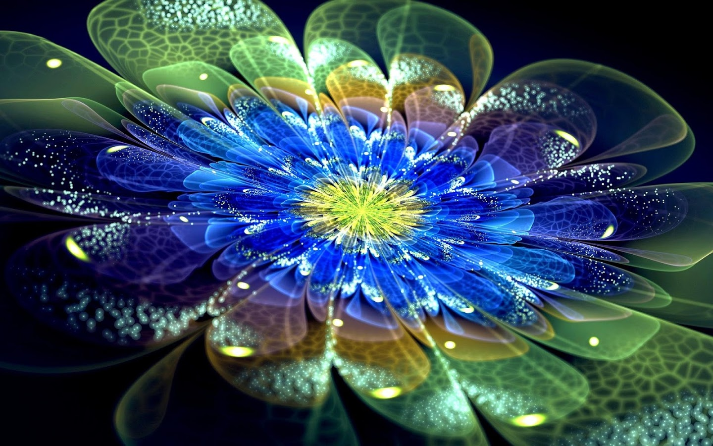 Get 4D Neon Flowers Live wallpaper its wonderful collection of 1440x900