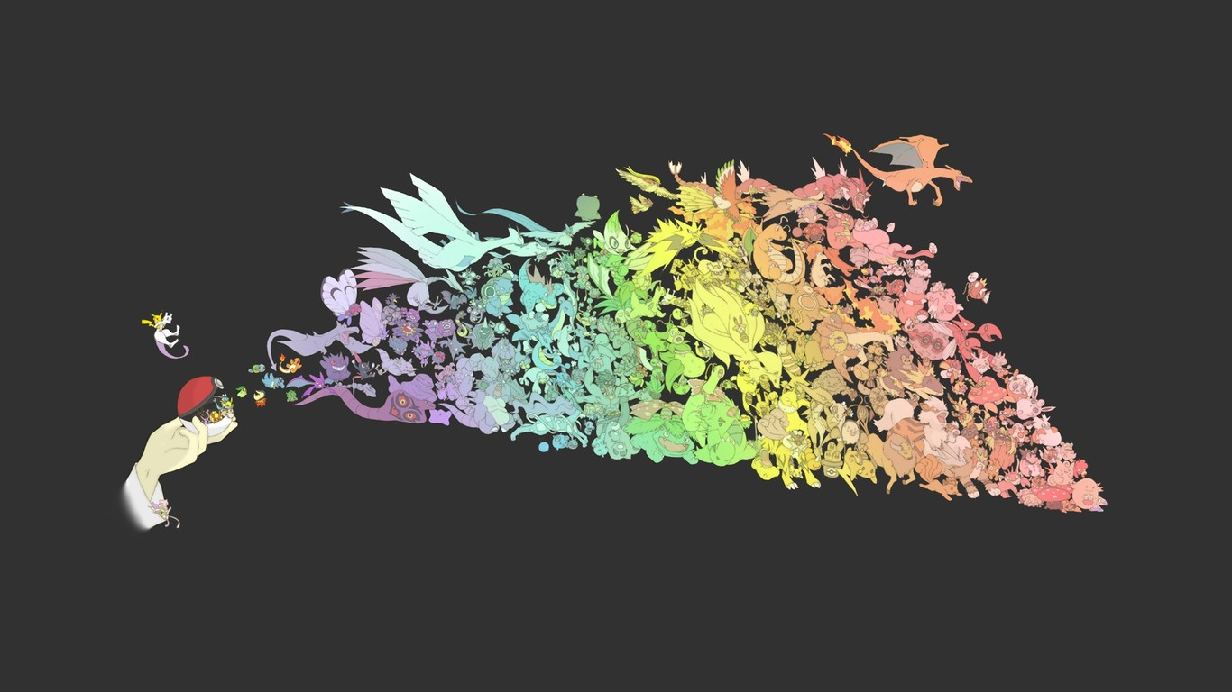 Pokemon wallpaper 14518 1366x768