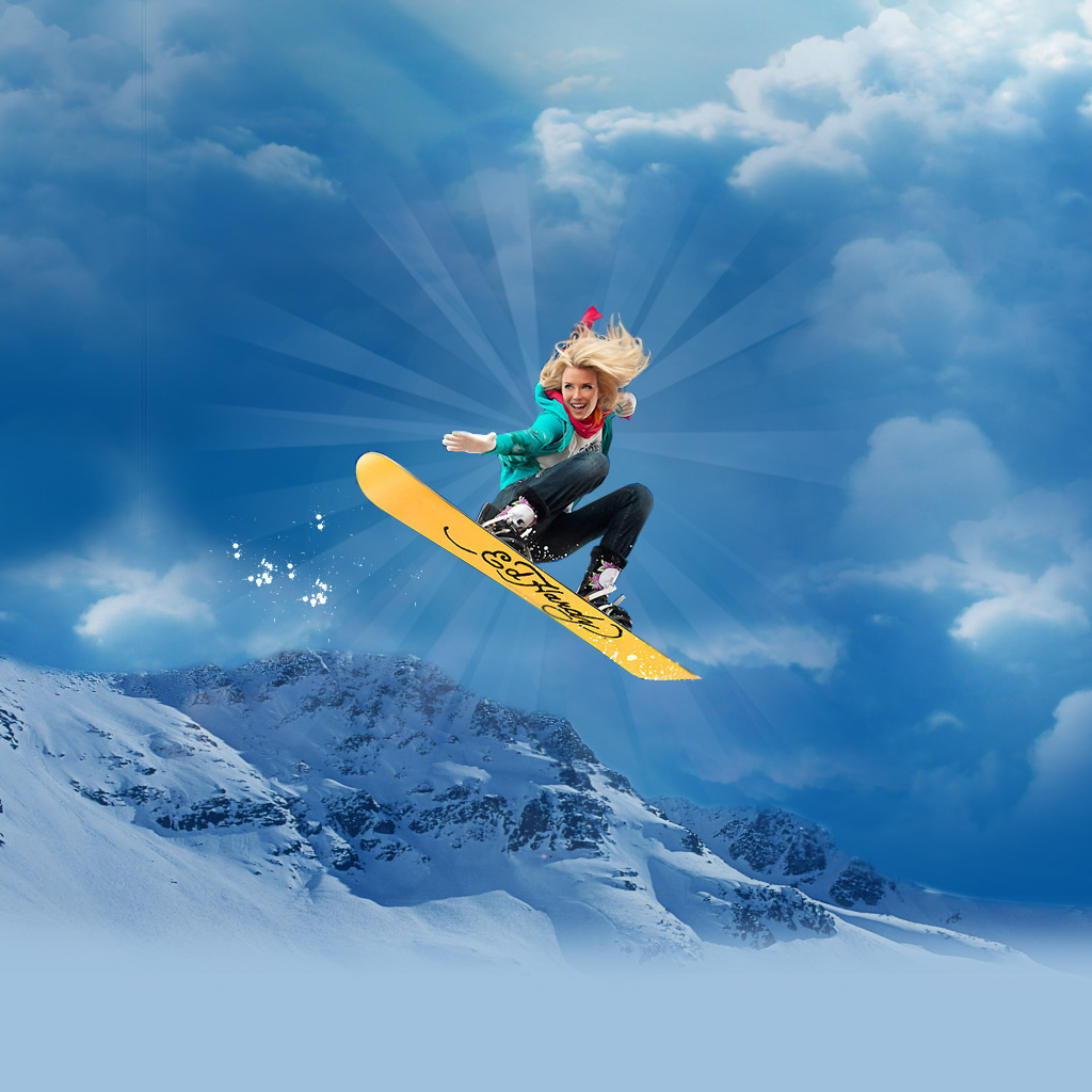 ffd5166b23c8 Snowboarding iPad Wallpaper Download iPad wallpapers 1024x1024