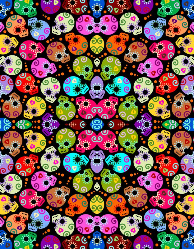 Girly Skull Wallpaper Girly Sugar Skulls 624x800