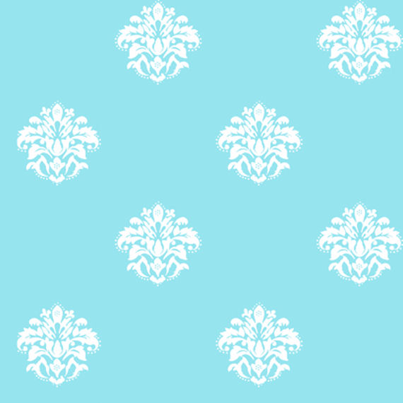 Blue And White Damask Wallpaper Wallpapersafari