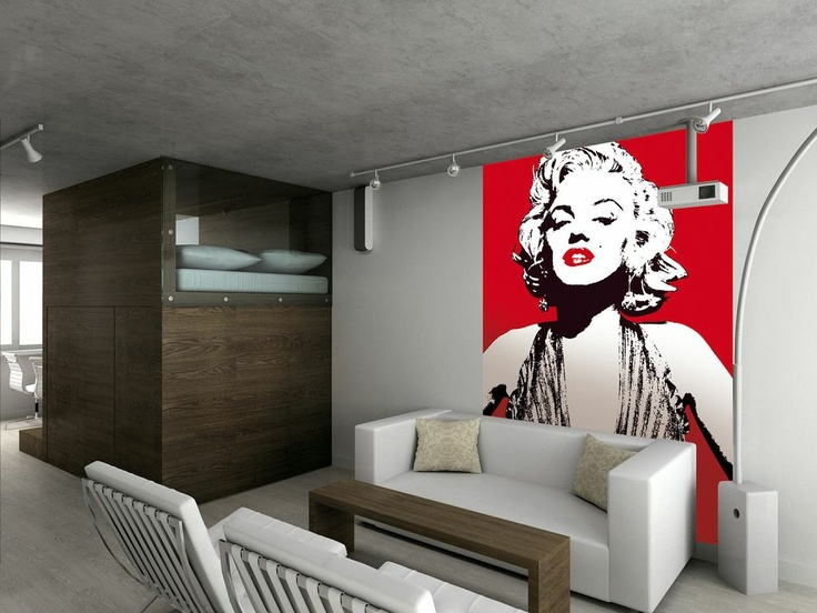 Marilyn Monroe Wallpaper Mural Comes in 2 easy to hang pieces Height 736x552