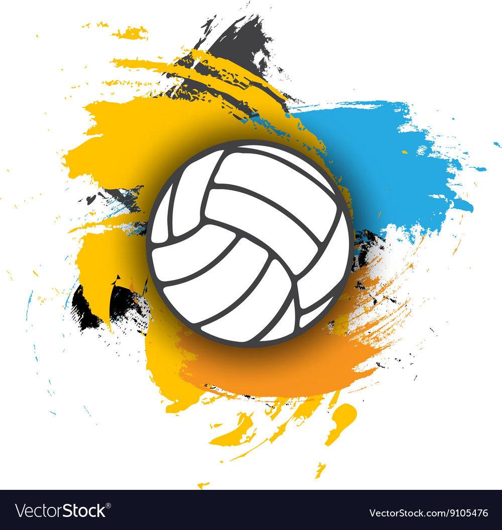 Volleyball logo on the background of multi Vector Image 1000x1056