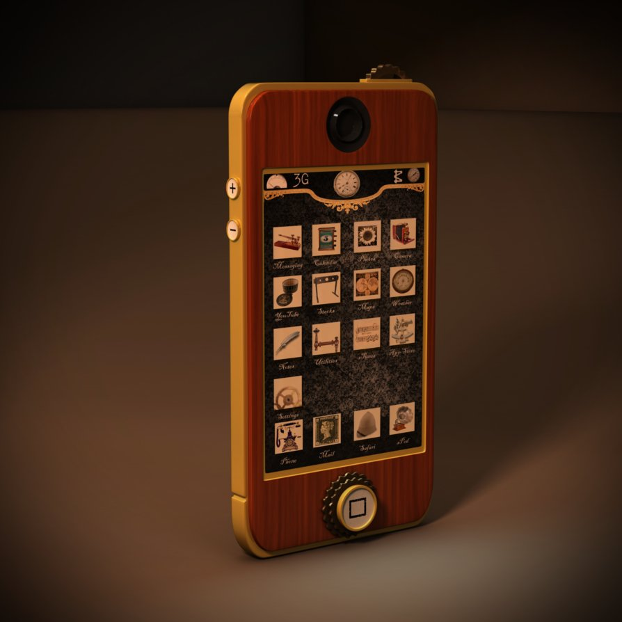 Steampunk IPhone by MuJushin 894x894