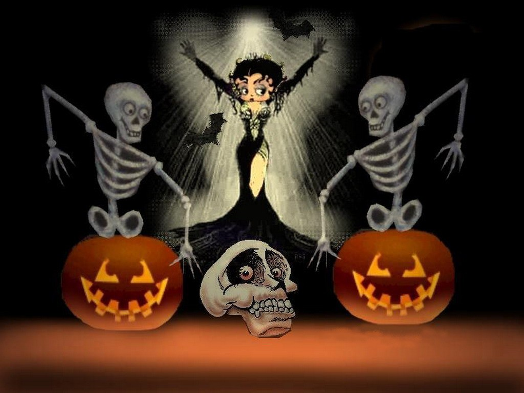 Betty Boop Halloween Desktop Wallpaper 1024x768