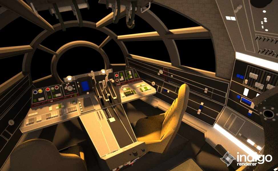 Screen Accurate Millennium Falcon Cockpit (CG Model) - Page 16