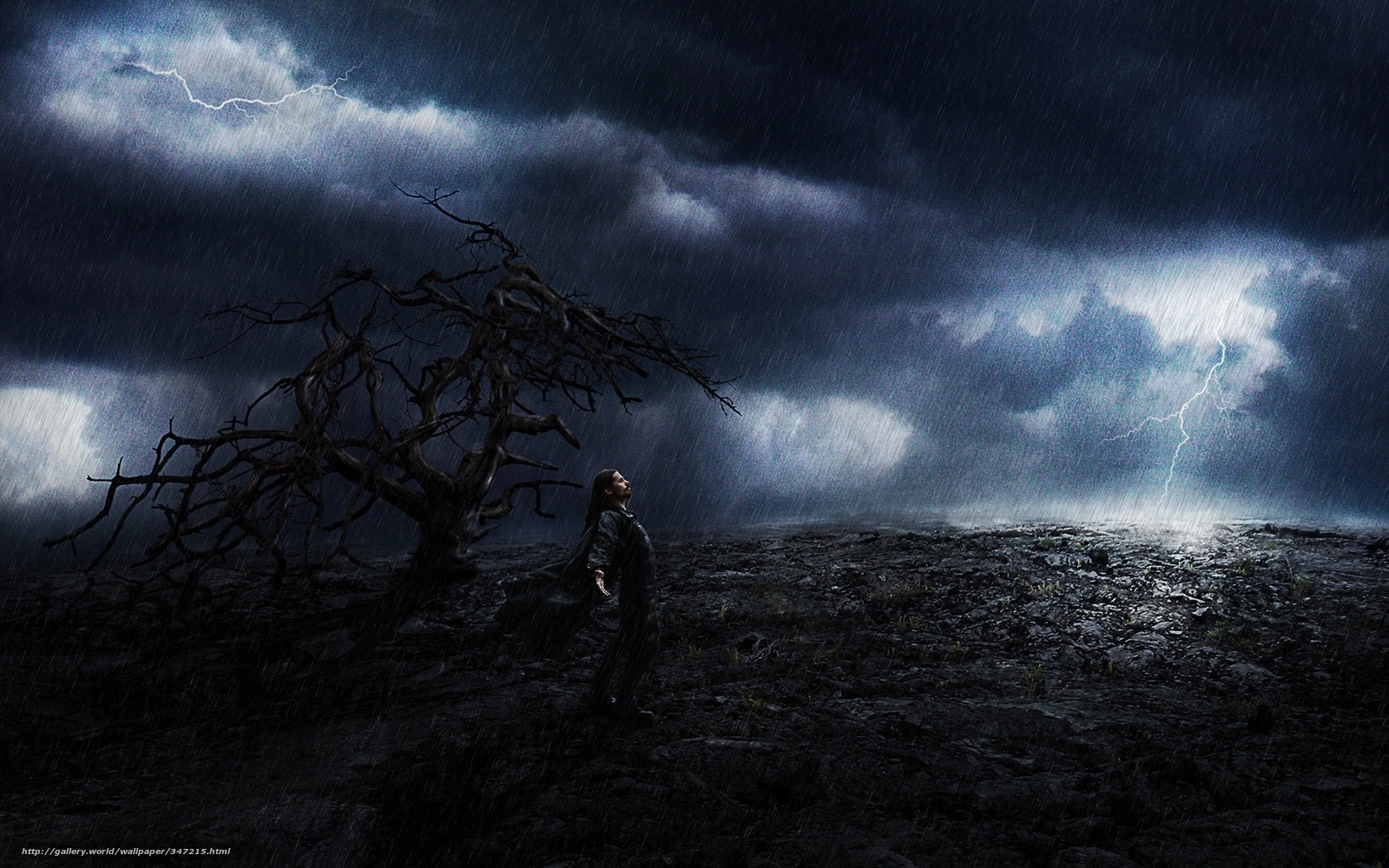Download wallpaper man rain storm desktop wallpaper in the 1600x1000