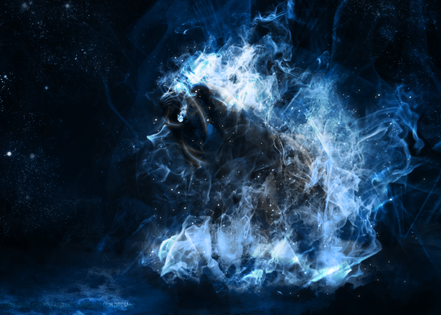 Blue Fire Horse Fire Horse v2 Blue by Xkibax 900x643