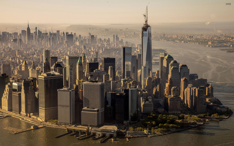 New York City Skyline Day USA America HD Desktop wallpapers 2880x1800