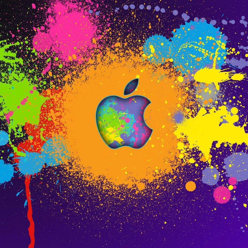 Crazy apple colors ipad wallpaper to download 1024x1024
