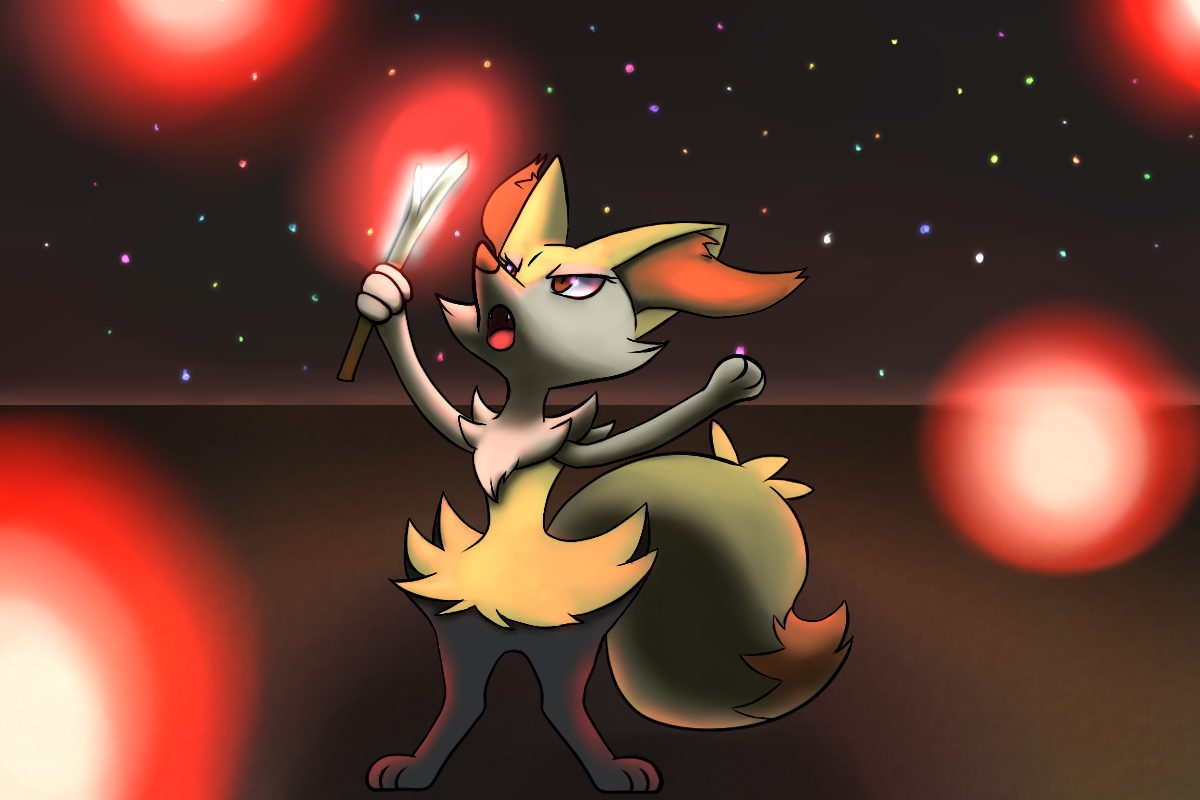 Braixen by SuperLeon 1200x800
