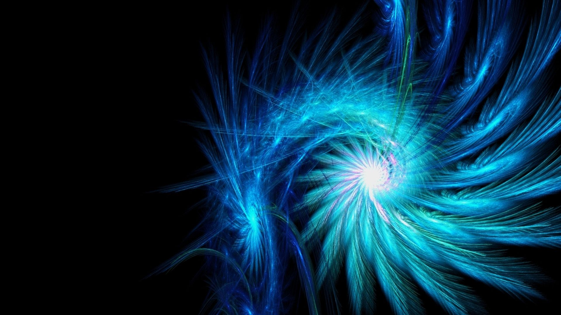 Blue Neon Wallpaper Spiral Light Background Dark Wallpapers 1920x1080