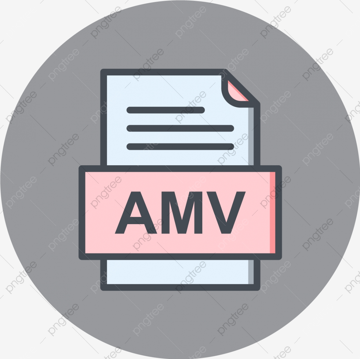 Amv File Document Icon Amv Document File PNG and Vector with 1200x1195